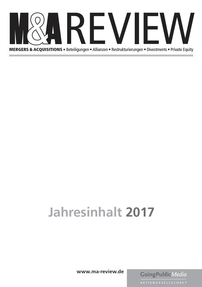 M&A REVIEW – Jahresindex 2017