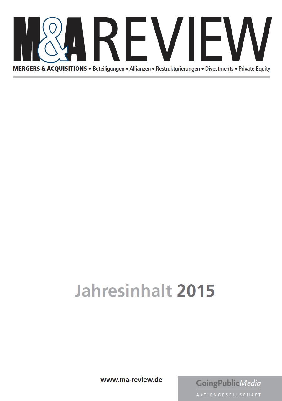M&A REVIEW – Jahresindex 2015