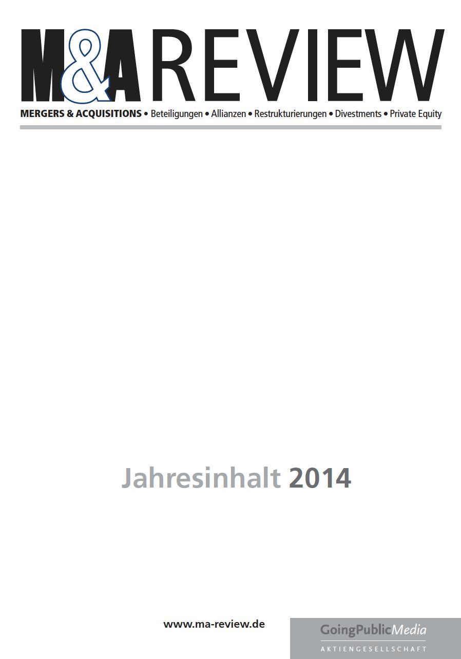 M&A REVIEW – Jahresindex 2014