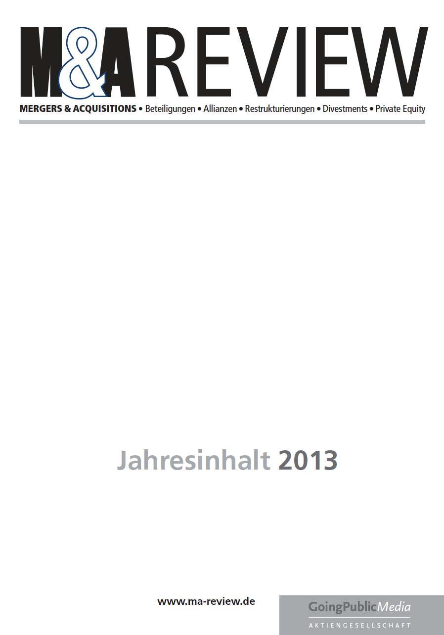 M&A REVIEW – Jahresindex 2013