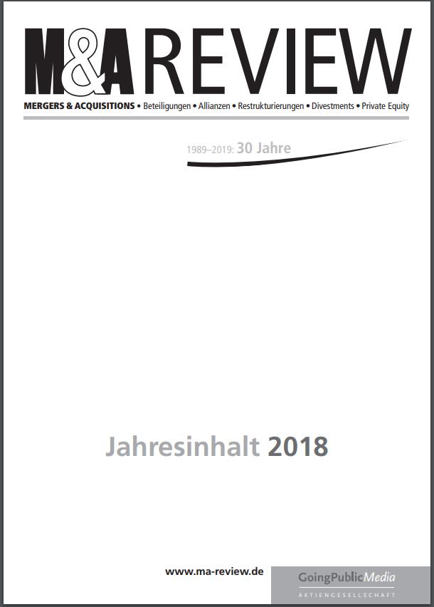 M&A REVIEW – Jahresindex 2018